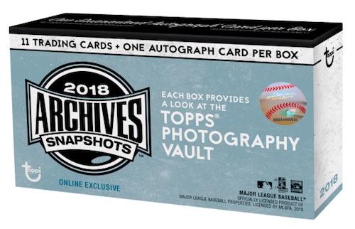 2018 Topps Archives Snapshots Baseball Cards 1