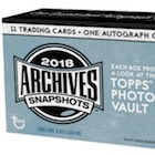 2018 Topps Archives Snapshots Baseball Cards