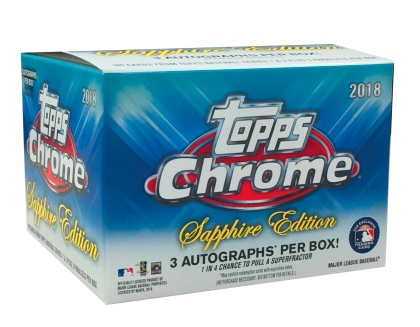 2018 Topps Chrome Sapphire Edition Baseball Cards 3