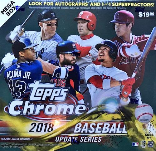 2018 Topps Chrome Update Series Baseball Cards 3