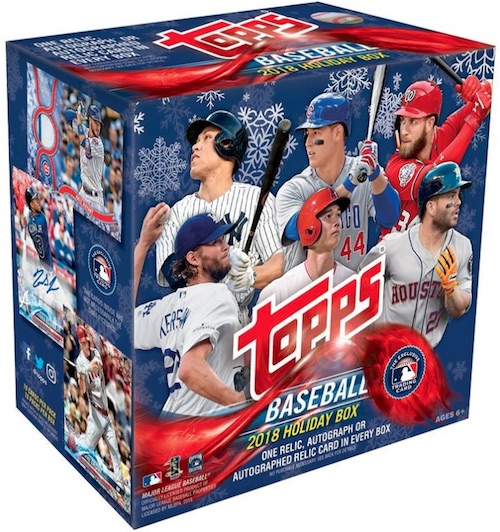 2018 Topps Holiday Snowflake Baseball Cards