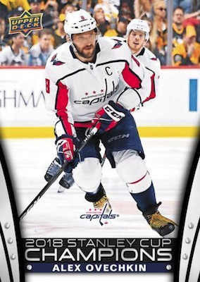 2018 Upper Deck Washington Capitals Stanley Cup Champions Hockey Cards - Checklist Added 25