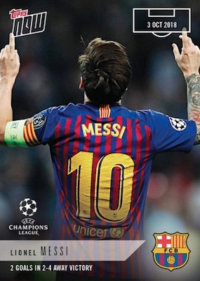 2018-19 Topps Now UEFA Champions League Soccer Cards Checklist 2