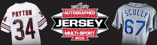 2018 Leaf Autographed Jersey Multi-Sport Edition 1