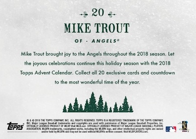 2018 Topps Advent Calendar Baseball Cards - Final Cards 3