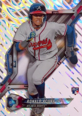 Image result for 2018 topps high tek ronald acuna jr