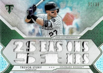 2018 Topps Triple Threads Baseball Cards 34