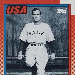 1990 Topps George Bush Baseball Card History Details Rarity Set Info