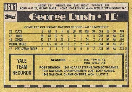 The Story of the 1990 Topps George Bush Baseball Card 2