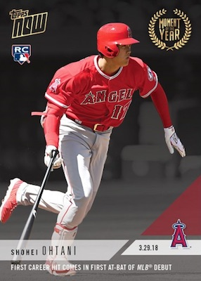 2018 Topps Now Moment of the Week Baseball Cards - Moment of the Year 4