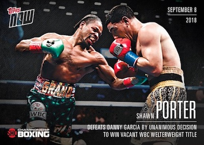 2018 Topps Now Showtime Championship Boxing Cards 2