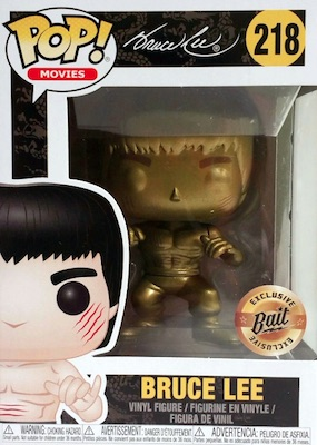 Aufsteller & Figuren Film-fanartikel Movies #218 Vinyl Figur Funko Bruce Lee Gold Version Enter The Dragon Pop
