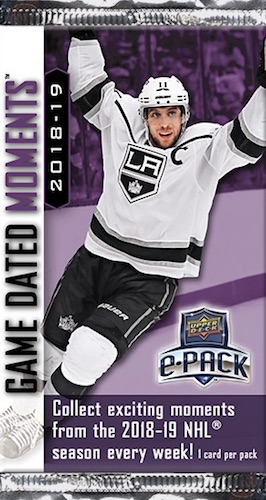 2018-19 Upper Deck Game Dated Moments
