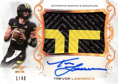 2018 Leaf Metal US Army All-American Bowl Football Cards - Trevor Lawrence Autographs 4