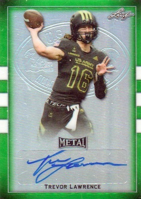 2018 Leaf Metal US Army All-American Bowl Football Cards - Trevor Lawrence Autographs 3
