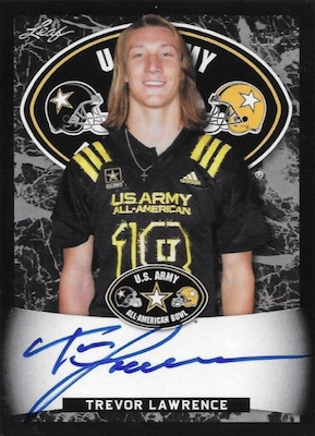 2018 Leaf Metal US Army All-American Bowl Football Cards - Trevor Lawrence Autographs 24