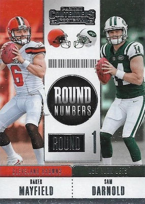2018 Panini Contenders Football Cards - Rookie Ticket Short Print Runs 38
