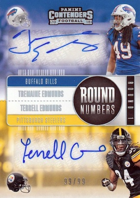 2018 Panini Contenders Football Cards - Rookie Ticket Short Print Runs 7