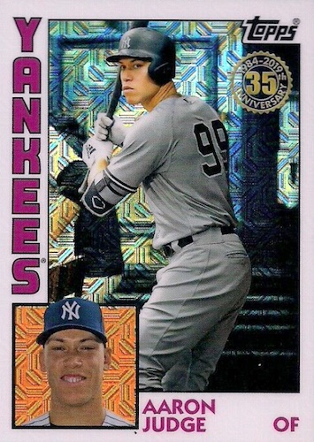 2019 Topps Baseball Silver Pack 1984 Chrome Cards - Update Series 1