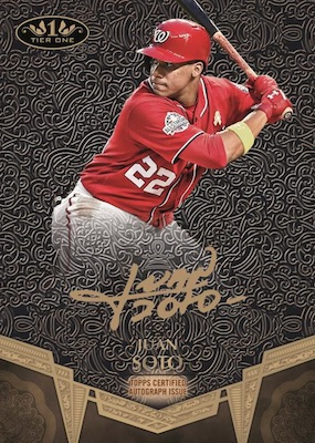 2019 Topps Tier One Baseball Cards 3