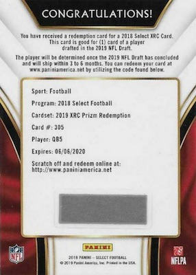 2018 Panini Select Football Cards 9