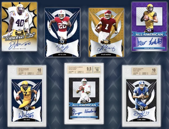 2019 Leaf Valiant Football Cards 3