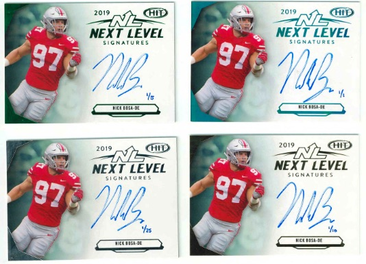 2019 Sage Hit Premier Draft Low Series Football Cards - Checklist Added 3