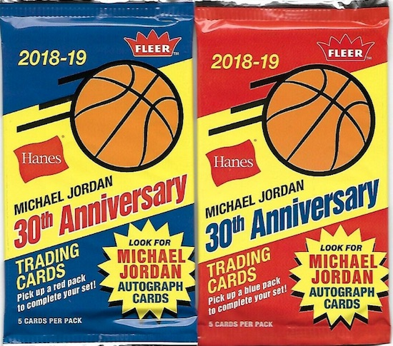 2018-19 Fleer Hanes Michael Jordan 30th Anniversary Trading Cards 2