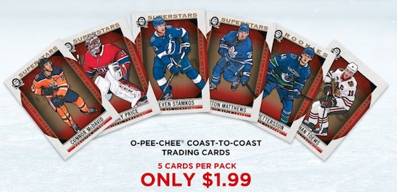 2018-19 O-Pee-Chee Coast to Coast Canadian Tire Hockey Cards 3