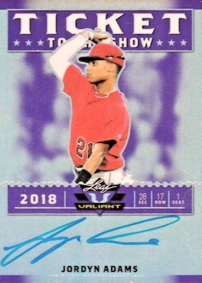 2018 Leaf Valiant Baseball Cards 26