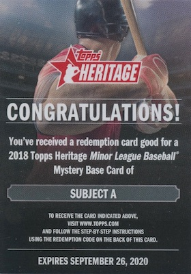 2018 Topps Heritage Minor League Baseball Cards 10