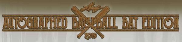 2019 Leaf Autographed Baseball Bat Edition 1