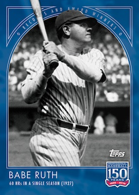 2019 Topps 150 Years of Baseball Cards Checklist 1