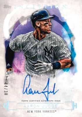 2019 Topps Inception Baseball Cards