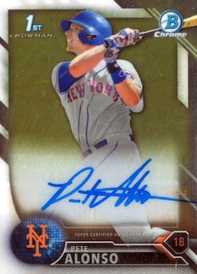 ROY! Pete Alonso Rookie Cards Guide and Top Prospects List 50