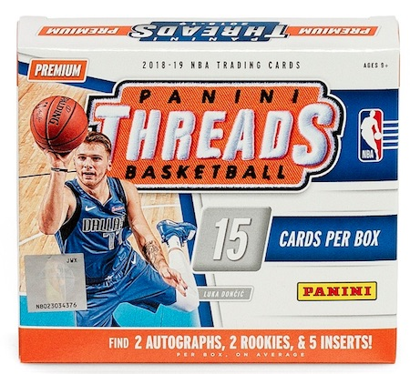 2018-19 Panini Threads Basketball Cards 3