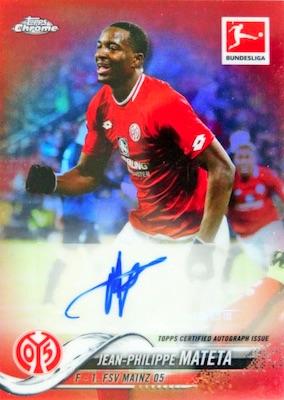 18 pk, ONE Autograph card 2019 Topps Chrome Bundesliga Soccer HOBBY box