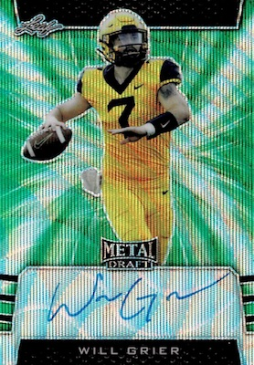 2019 Leaf Metal Draft Football Cards 3