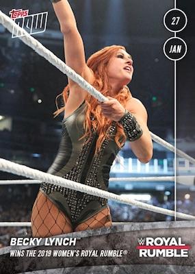 2019 Topps Now WWE Wrestling Cards - WrestleMania 35 2