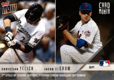 2018 Topps Now Card of the Month Baseball Cards 6