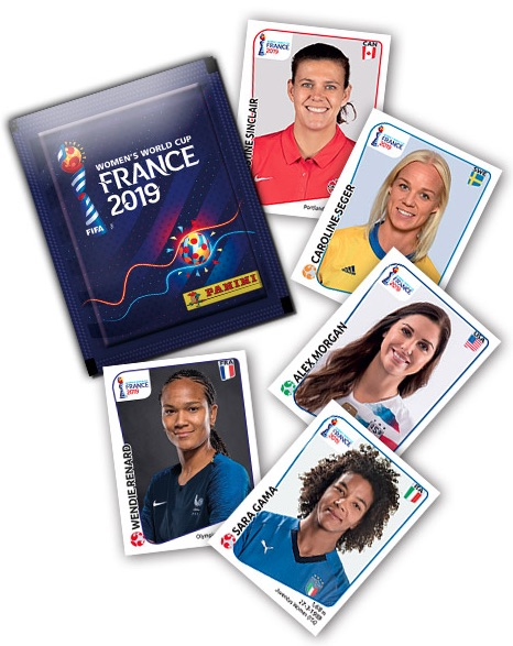 Panini Womens Frauen World Cup FRANCE 2019 box 50 packets sealed