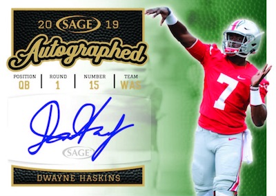 2019 Sage Autographed Football Cards 3