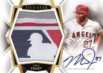 2019 Topps Five Star Baseball Cards - Checklist Added 8