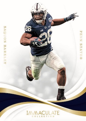 2019 Immaculate Collection Collegiate Football Cards 1