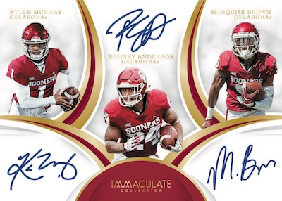 2019 Immaculate Collection Collegiate Football Cards 5