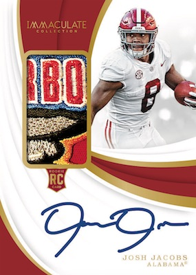 2019 Immaculate Collection Collegiate Football Cards 2