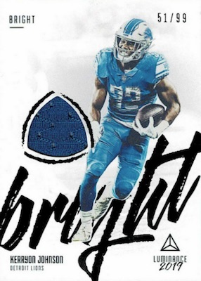 2019 Panini Luminance Football Cards 31
