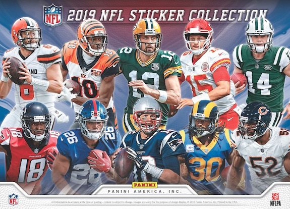 4e33cada 2019 Panini NFL Sticker Collection Football Cards – Checklist Added