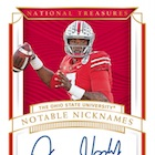 2019 Panini National Treasures Collegiate Football Cards