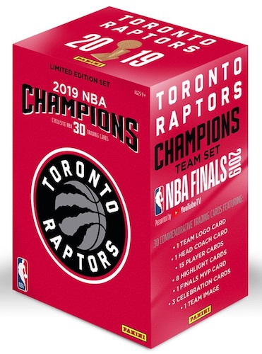 2019 Panini Toronto Raptors NBA Champions Basketball Cards 3